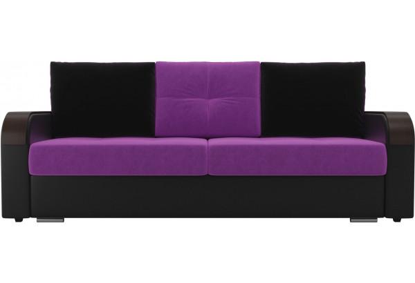 Прямой диван Мейсон Фиолетовый/Черный (Микровельвет/Экокожа) - фото 2