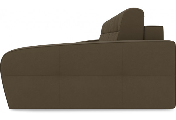 Диван угловой правый «Аспен Т2» Beauty 04 (велюр) коричневый - фото 4