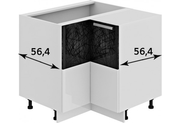 Шкаф напольный угловой с углом 90° Фэнтези (Лайнс) - фото 3