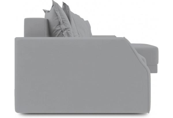 Диван угловой правый «Люксор Slim Т1» (Poseidon Grey (иск.замша) серый) - фото 3