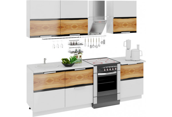 Кухонный гарнитур длиной - 240 см Фэнтези (Вуд) - фото 1