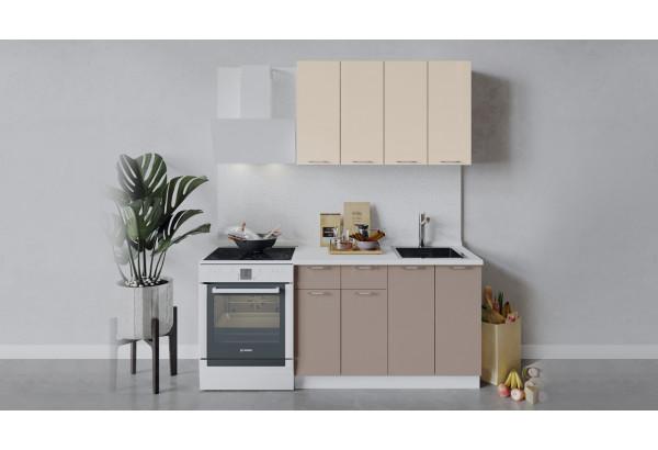 Кухонный гарнитур «Весна» длиной 120 см (Белый/Ваниль глянец/Кофе с молоком) - фото 1