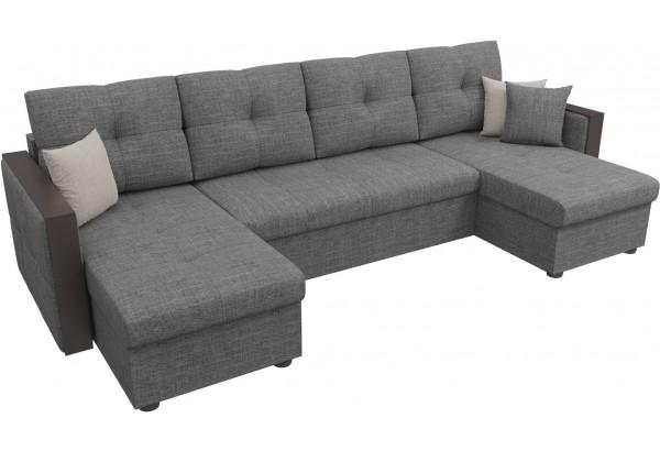 П-образный диван Валенсия Серый (Рогожка) - фото 4