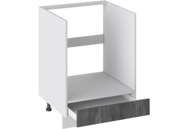 Шкаф напольный под бытовую технику с 1-м ящиком (ПРОВАНС (Белый глянец/Санторини темный)) - фото 2