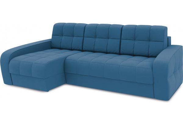 Диван угловой левый «Аспен Т2» Beauty 07 (велюр) синий - фото 1