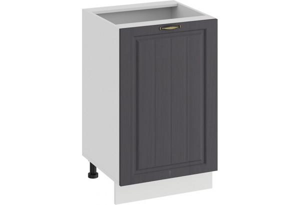 Шкаф напольный с одной дверью «Лина» (Белый/Графит) - фото 1
