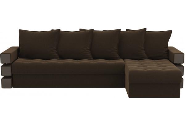 Угловой диван Венеция Коричневый (Микровельвет) - фото 2