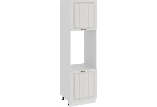 Шкаф-пенал под бытовую технику с двумя дверями «Лина» (Белый/Белый) - фото 1