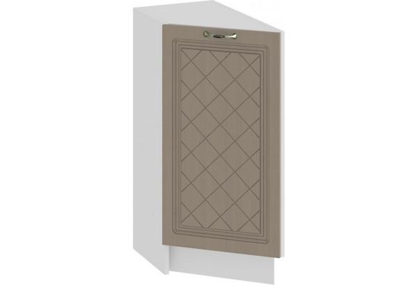Шкаф напольный торцевой с одной дверью «Бьянка» (Белый/Дуб кофе) - фото 1