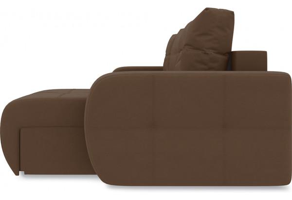 Диван угловой правый «Томас Т1» Beauty 04 (велюр) коричневый - фото 5
