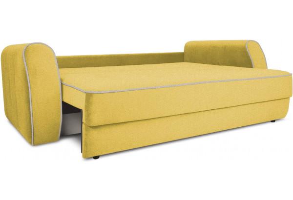 Диван «Хьюго» (Neo 08 (рогожка) желтый кант Neo 02 (рогожка) бежевый) - фото 6
