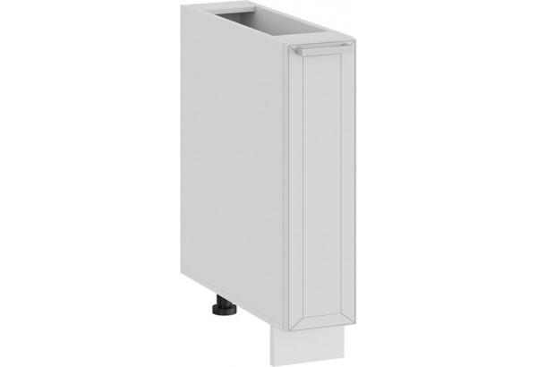 Шкаф напольный с выдвижной корзиной «Долорес» (Белый/Сноу) - фото 1