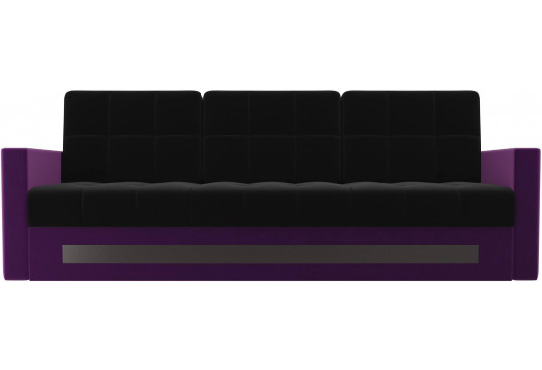 Диван прямой Белла черный/фиолетовый (Микровельвет) - фото 2