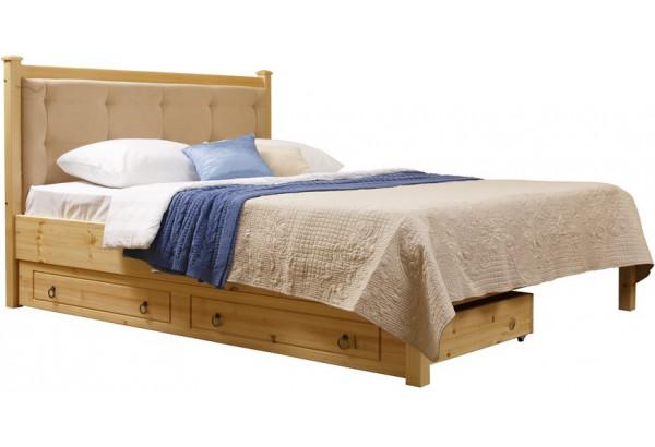 Кровать мягкая 1/1 с ящиками - фото 1