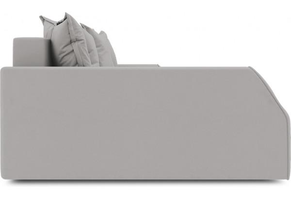 Диван угловой левый «Люксор Slim Т2» (Galaxy 06 (велюр) серый) - фото 5
