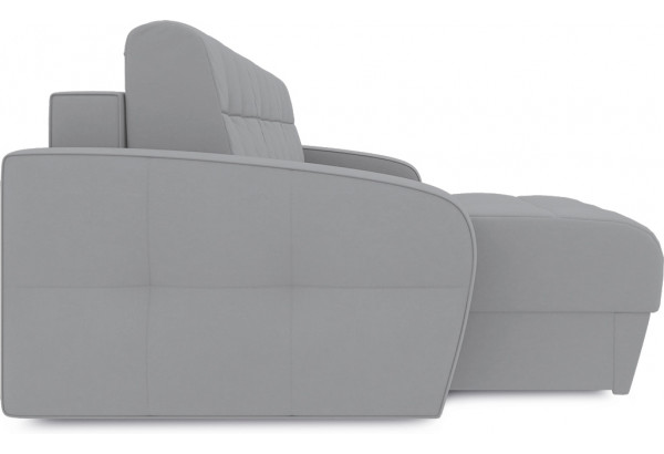 Диван угловой левый «Аспен Т1» (Poseidon Grey (иск.замша) серый) - фото 4
