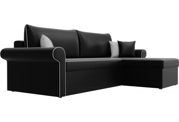 Угловой диван Милфорд Черный (Экокожа) - фото 3