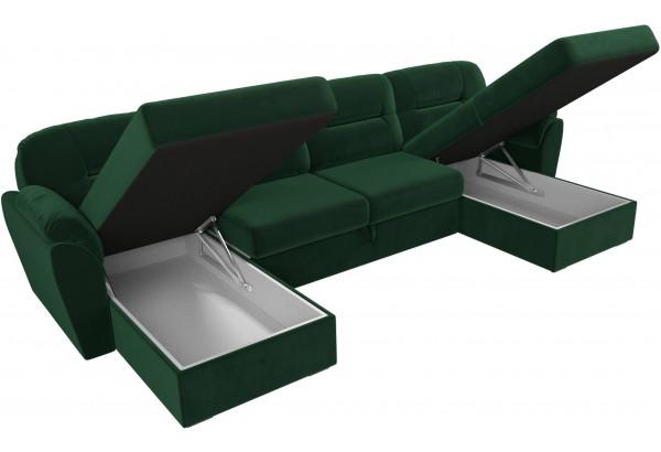 П-образный диван Бостон Зеленый (Велюр) - фото 6