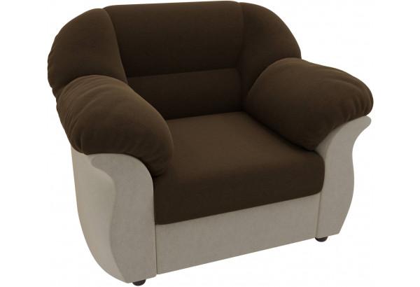 Кресло Карнелла Коричневый/Бежевый (Микровельвет) - фото 3