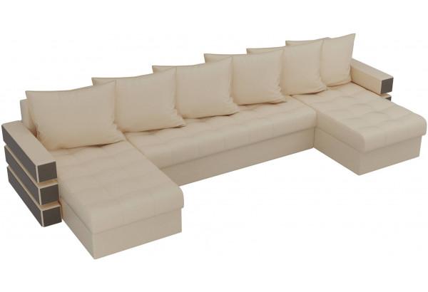 П-образный диван Венеция Бежевый (Экокожа) - фото 4