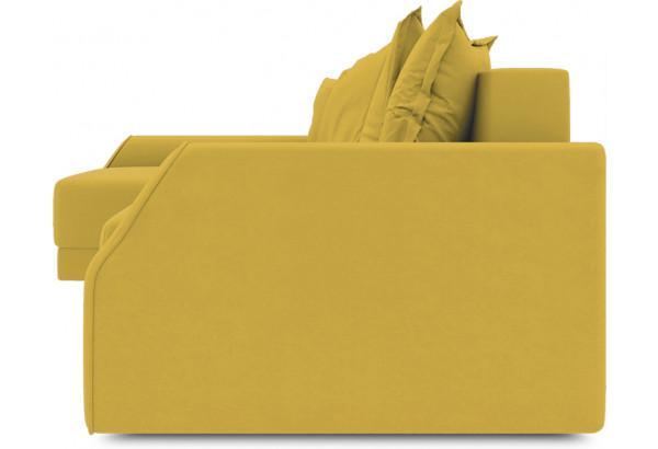 Диван угловой левый «Люксор Slim Т2» (Poseidon Curcuma (иск.замша) желтый) - фото 3