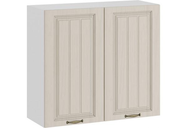 Шкаф навесной c двумя дверями «Лина» (Белый/Крем) - фото 1