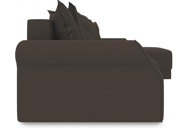 Диван угловой правый «Люксор Т1» Galaxy 04 (велюр) темно-коричневый - фото 3