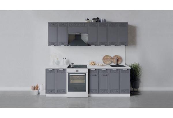 Кухонный гарнитур «Долорес» длиной 240 см (Белый/Титан) - фото 1