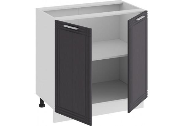 Шкаф напольный с двумя дверями «Ольга» (Белый/Графит) - фото 2