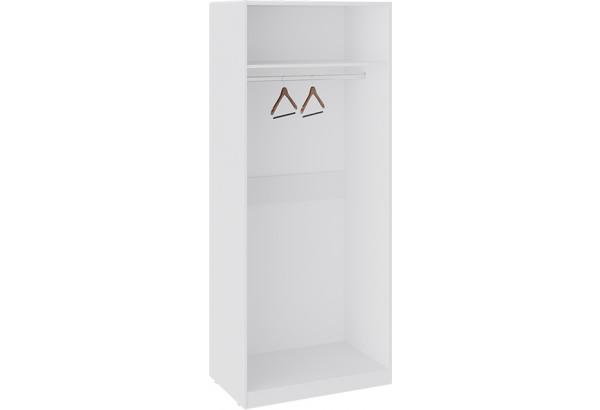 Шкаф для одежды с 1 зеркальной и 1 глухой дверью «Синди» (Белый глянец/Дуб Делано/Белый глянец) - фото 3