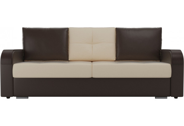 Прямой диван Мейсон бежевый/коричневый (Экокожа) - фото 2