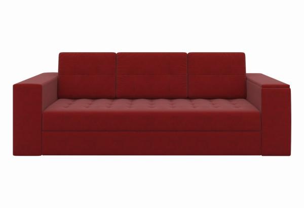 Диван прямой Пазолини Красный (Микровельвет) - фото 2