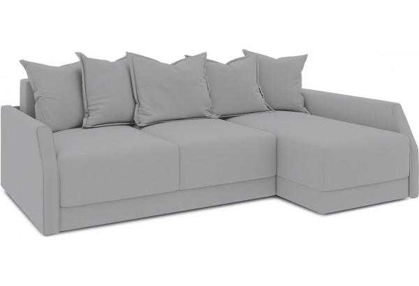 Диван угловой правый «Люксор Slim Т2» (Poseidon Grey (иск.замша) серый) - фото 1
