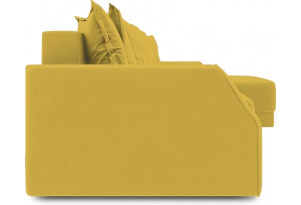 Диван угловой правый «Люксор Slim Т1» (Poseidon Curcuma (иск.замша) желтый) - фото 3