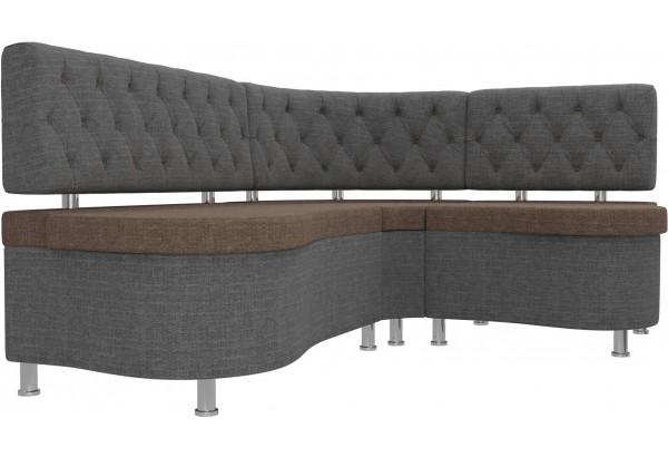 Кухонный угловой диван Вегас коричневый/Серый (Рогожка) - фото 3