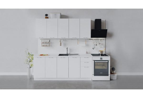 Кухонный гарнитур «Весна» длиной 200 см (Белый/Белый глянец) - фото 1
