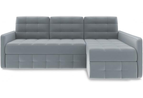 Диван угловой правый «Райс Slim Т2» Kolibri Silver (велюр) серый - фото 2