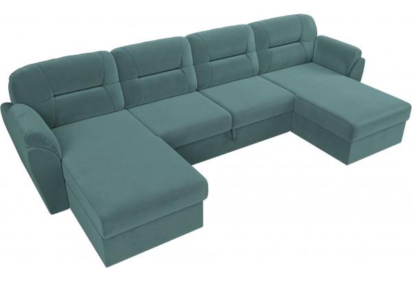 П-образный диван Бостон бирюзовый (Велюр) - фото 5