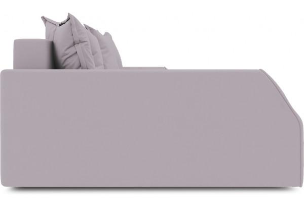 Диван угловой левый «Люксор Slim Т2» (Poseidon Pale Lavender (иск.замша) бледно-лавандовый) - фото 5