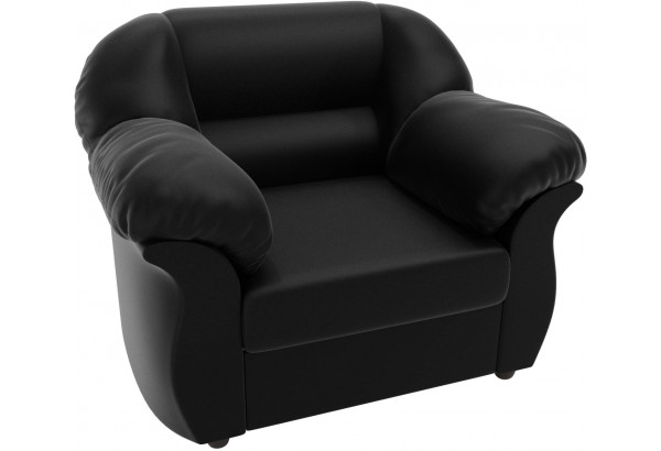 Кресло Карнелла Черный (Экокожа) - фото 4