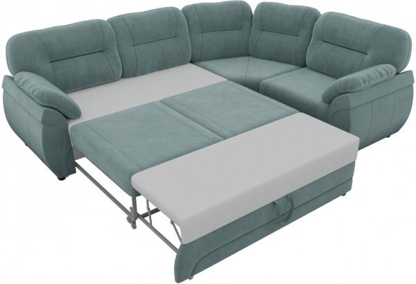 Угловой диван Бруклин бирюзовый (Велюр) - фото 5
