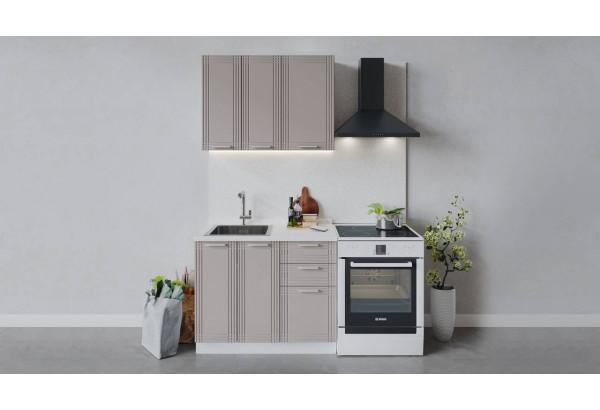 Кухонный гарнитур «Ольга» длиной 100 см (Белый/Кремовый) - фото 1