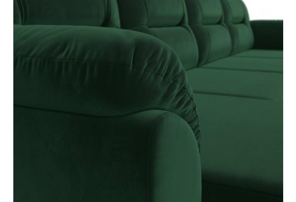 П-образный диван Бостон Зеленый (Велюр) - фото 4