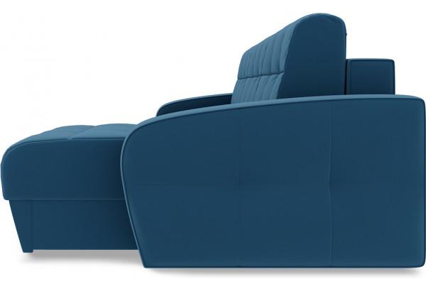 Диван угловой правый «Аспен Т1» Beauty 07 (велюр) синий - фото 4