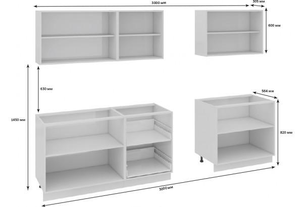 Кухонный гарнитур длиной - 300 см Фэнтези (Белый универс)/(Вуд) - фото 3