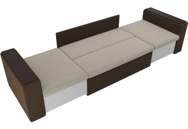 Детский диван Арси бежевый/коричневый (Микровельвет) - фото 5