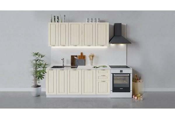 Кухонный гарнитур «Лина» длиной 180 см (Белый/Крем) - фото 1