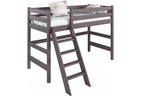 """Вариант 6 Полувысокая кровать """"Соня"""" Лаванда с наклонной лестницей - фото 1"""