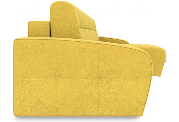 Диван угловой правый «Аспен Т1» Maserati 11 (велюр), желтый - фото 3