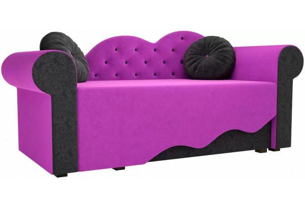 Детская кровать Тедди-2 Фиолетовый/Черный (Микровельвет) - фото 1
